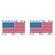 "Tape Logic® Pre-Printed Carton Sealing Tape, ""Made in USA"", 2"" x 110 yds., Red/White/Blue, 36/Case"
