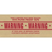 "Central 240 Pre-Printed Reinforced Tape, ""Warning"", 3"" x 450', 10/Case"