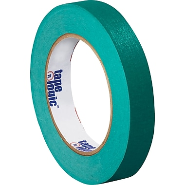 Intertape Industrial Masking Tape, Dark Green, 3/4