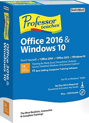 Professor Teaches Office 2016 Windows 10 1 User [Boxed]