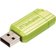 Verbatim 32GB Metallic PinStripe USB 2.0 Flash Drive, Green (99148)