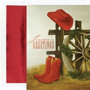 Great Papers® Christmas Hats And Boots Holiday Greeting Card 18 Cards / 18 Envelopes