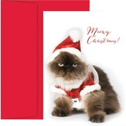 Great Papers® Christmas Cat Holiday Greeting Card 18 Cards / 18 Envelopes