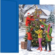 Great Papers® Tree Decorating Holiday Greeting Card 18 Cards / 18 Envelopes
