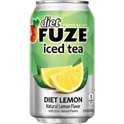Fuze® Diet Lemon Iced Tea, 12 oz. Cans, 24/Pack