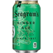 Seagram's Ginger Ale, Fridge Pack, 12 oz. cans, 24/Pack