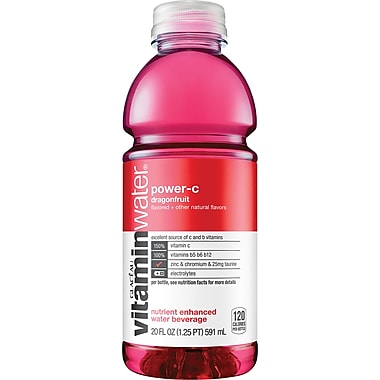 Glaceau Vitaminwater®, Power-C, Dragonfruit, 20 oz., 24 Bottles/Case
