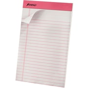 "Ampad® Notepad, 5"" x 8"", Junior Legal Pad, White, Medium Rule, 50 Sheets, 6/Pack (20078)"