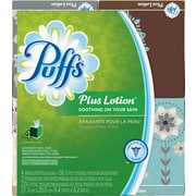 Puffs® Plus Lotion Facial Tissues, 1-Ply, 56 Sheets/Box, Cube Box, 4/Pack (34899)