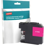 Staples® Reman Inkjet Cartridge, Brother LC-103XL (LC103M), Magenta, High Yield