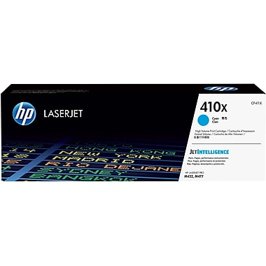 HP 410X (CF411X) Cartouche de toner HP LaserJet cyan à rendement élevé d'origine