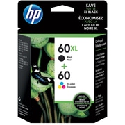 HP 60XL Black/60 Color Ink Cartridges, N9H59FN, 2/Pack