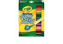 Crayola® Washable Super Tips Markers (58-8106), 20/Box