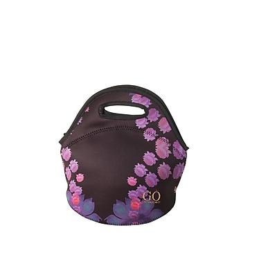 Cynthia Rowley Lunch Bag Black Cosmic Floral Neoprene 28777
