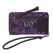 Cynthia Rowley Phone & Wallet Wristlet, Cosmic Black Floral, Neoprene (28786)