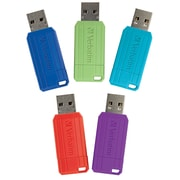 Verbatim 5PK 8GB Pinstripe USB 2.0 Red, Blue, Green, Purple, Black