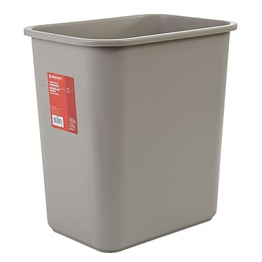 Brighton Professional 7 Gallon Plastic Wastebaskets, Beige (22178/19211)