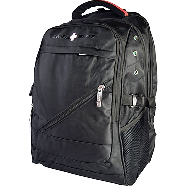 Swiss Elite Black Polyester Mobile Laptop Backpack (BBP.1039.61 ...