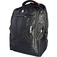 Swiss Elite Polyester Mobile Laptop Backpack (Black)