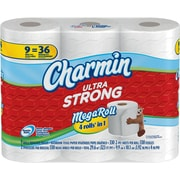 Charmin® Ultra Strong Toilet Paper, 2-Ply, 9 Mega Rolls/Pack (80252467)