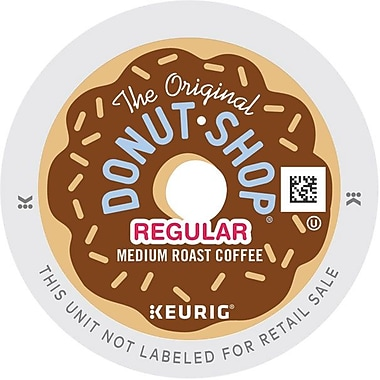 The Original Donut Shop® Coffee, Regular Keurig® K-Cup® Pods, 0.4 oz, 96/Carton (60052101)