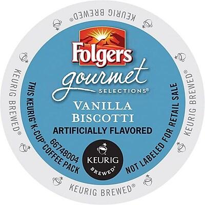 Keurig K-Cup Folgers Vanilla Biscotti Coffee, Regular, 24 Pack 464901