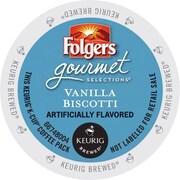 Keurig K-Cup Folgers Vanilla Biscotti Coffee, Regular, 24 Pack