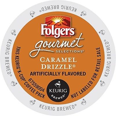 Keurig K-Cup Folgers Caramel Drizzle Coffee Regular 24 K-Cups/Pack (6680) 464947