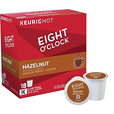 Eight O'Clock® Hazelnut, Regular Keurig® K-Cup® Pods, 18 Count