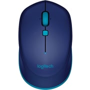 Logitech M535 Wireless Bluetooth Compact Optical Mouse, Ambidextrous, Blue (910-004529)