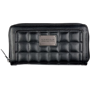 Club Rochelier CL8871-9-BLACK Zip Around Clutch, Black