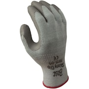 Best Manufacturing Company Gray Palm Coated 12/Pack Cotton Glove, M