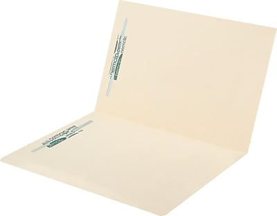 Medical Arts Press Letter Size Top Tab Manila File Folders; 11 Point 2 Fasteners 50 Box