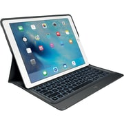 Logitech CREATE Backlit Keyboard Case with Smart Connector for iPad Pro, Black (920-007824)