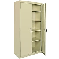 Sandusky Deluxe Steel Welded Storage Cabinet (Putty)