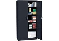 Sandusky Deluxe Steel Welded Storage Cabinet, 72'H x 36'W x 18'D, Black