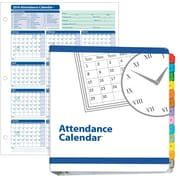 ComplyRight Attendance Calendar Kit, White, Pack of 25