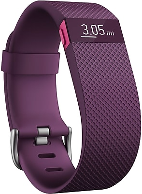 Fitbit ChargeHR Heart Rate Activity Wristband, Small, Plum (FB405PMSS)