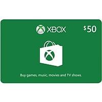 $50 Microsoft Xbox Cash eGift Card