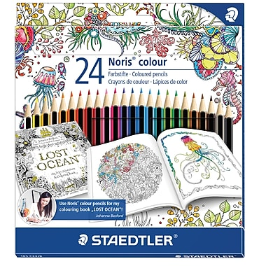 Staedtler Adult Colouring Themed Coloured Pencils, 24/Pack