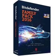 Bitdefender Family Pack 2016 Unlimited Users 1 Year for Windows (Unlimited Users) [Download]