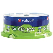 Verbatim CD-RW 12X High Speed 25pk Spindle