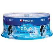 Verbatim Music CD-R 40X 25Pk Spindle