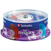 Verbatim DVD+R Life Series 16X Color 25Pk Spindle
