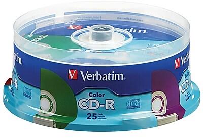 Verbatim CD-R 52X Colors 25Pk Spindle 1980924