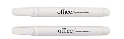 Office by Martha Stewart Liquid Chalk Markers 2 Pack White 28647