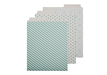 Office by Martha Stewart™ Vertical File Folders, 6 Pack, 2 Tab (28794)