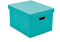 Poppin Aqua Large Storage File Box