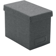 Poppin Dark Gray Medium Storage File Box