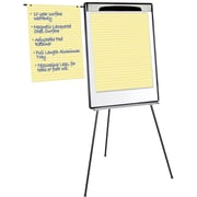 Staples® Silver Easy Clean Dry Erase Tri-Pod Pres. Easel with pen cups, Silver